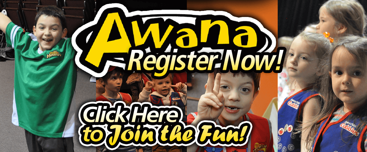 Register for Awana! Click here!